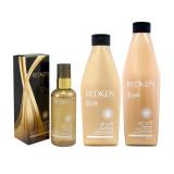 Redken All Soft Shampoo 300 ml + Conditioner 250 ml + Argan 6-Oil vlasová kúra 90 ml